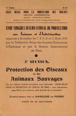 congrès animaux sauvages Bruxelles