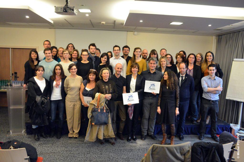 Les représentants des 26 ONG le 22 novembre 2016