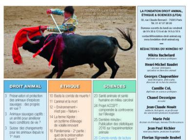 Revue 97 Fondation droit animal éthique et sciences