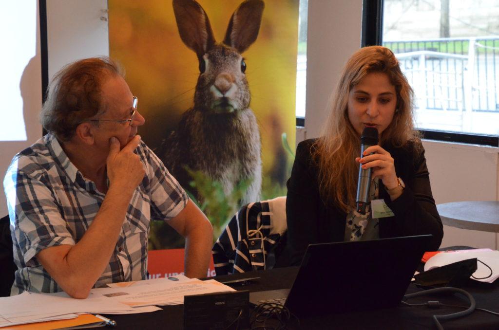 Gérard Martin de Convention Vie et Nature et Nikita Bachelard de la LFDA lors de l'événement organisé par CAP © Michel Pourny